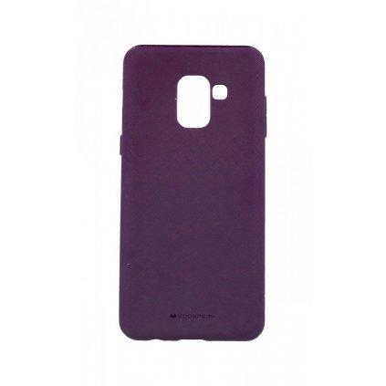 Zadný kryt Mercury Style Lux na Samsung A8 2018 fialový