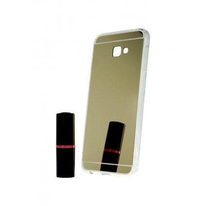 Zadný zrkadlový kryt na Samsung J4 + silikón zlatý