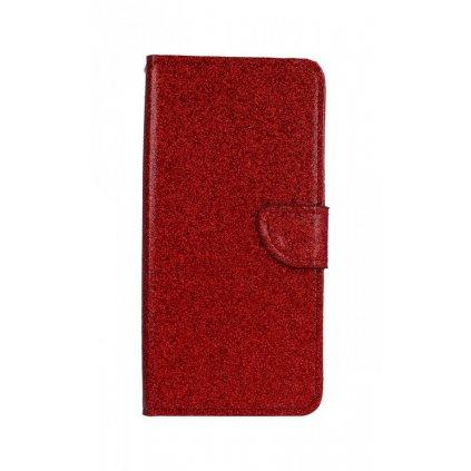 Flipové puzdro na Samsung J4 + glitter červené