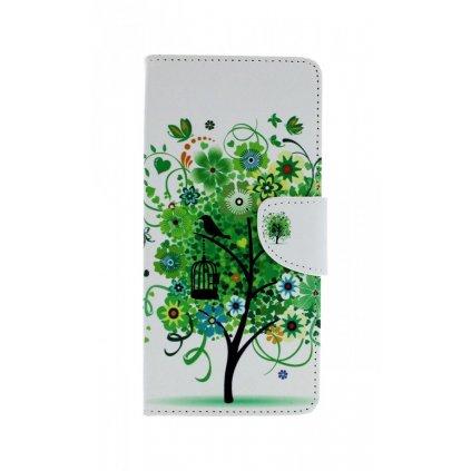 Flipové puzdro na Samsung J4 + Biele so stromom