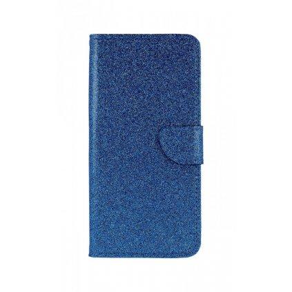 Flipové puzdro na Samsung J6 + glitter modré