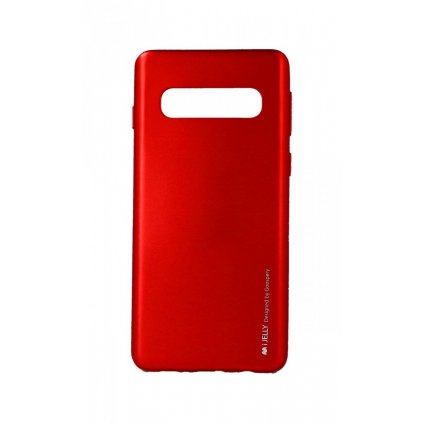 Zadný kryt Mercury iJelly Metal na Samsung S10 + červený