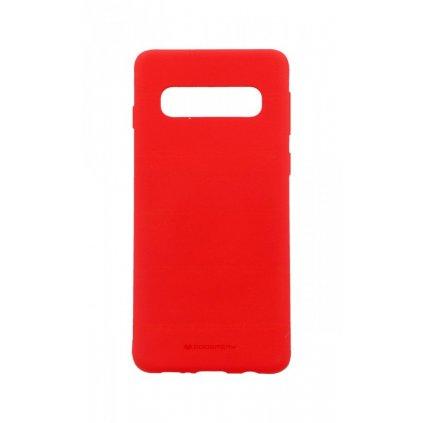 Zadný silikónový kryt Mercury Soft Case na Samsung S10 + červený