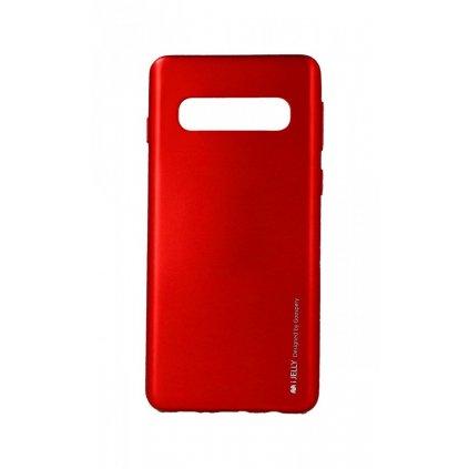 Zadný kryt Mercury iJelly Metal na Samsung S10 červený