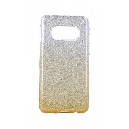 Zadný pevný kryt na Samsung S10e glitter strieborno-oranžový