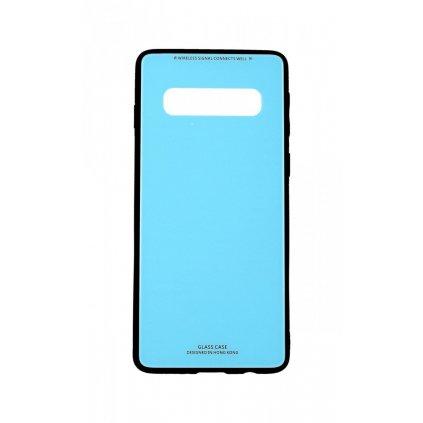 Zadný pevný kryt LUXURY na Samsung S10 modrý