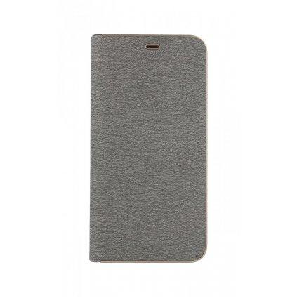 Flipové puzdro Luna Book na Samsung A9 strieborné