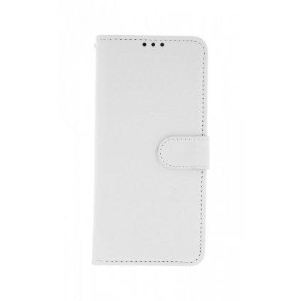 Flipové puzdro na Samsung A50 biele s prackou