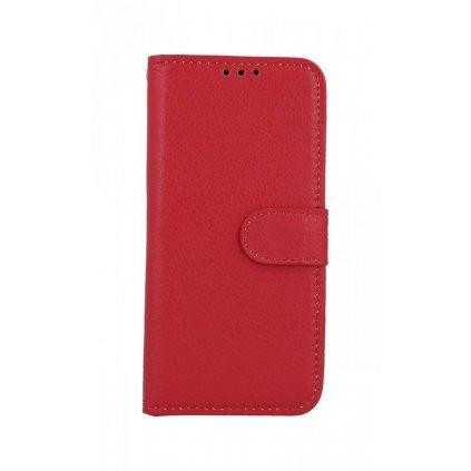 Flipové puzdro na Samsung M20 červené s prackou