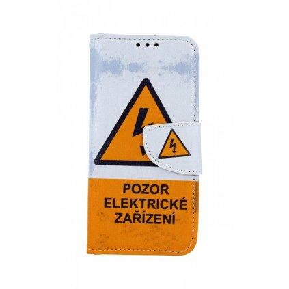 Flipové puzdro na Samsung M20 Pozor elektrické zariadenie