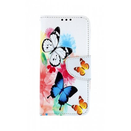 Flipové puzdro na Samsung A40 Farebné s motýlikmi
