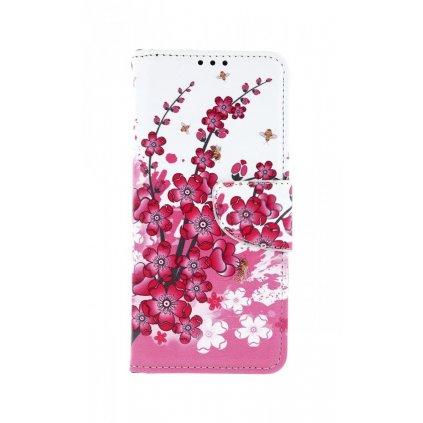 Flipové puzdro na Samsung A70 Kvety textil