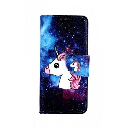 Flipové puzdro na Samsung A70 Space Unicorn