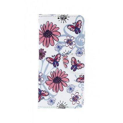 Flipové puzdro na Samsung A50 Flowers