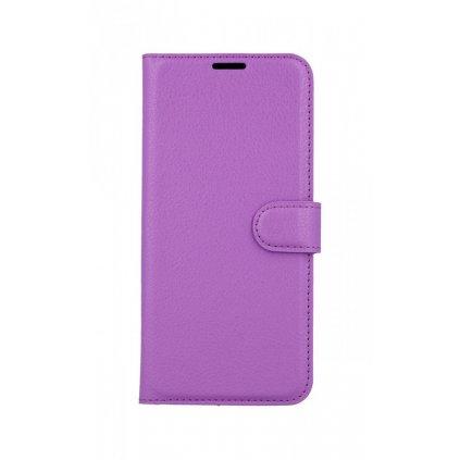 Flipové puzdro na Samsung A50 fialové s prackou