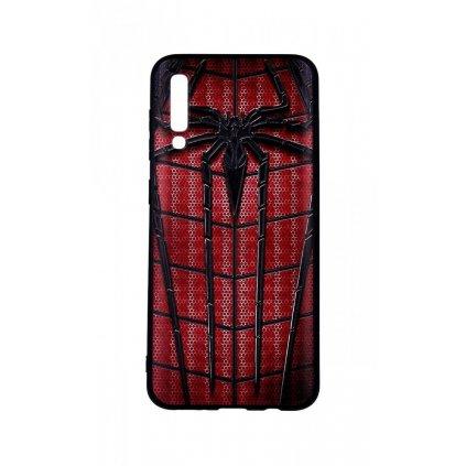 Zadný 3D silikónový kryt na Samsung A50 Spider-man