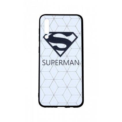 Zadný 3D silikónový kryt na Samsung A50 Biely Superman