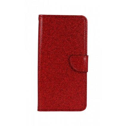 Flipové puzdro na Samsung A50 glitter červené