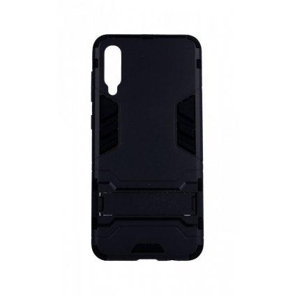 Ultra odolný zadný kryt na Samsung A50 so stojanom čierny