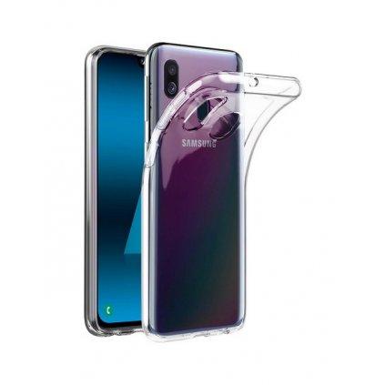Zadný kryt Swissten Clear Jelly na Samsung A40 priehľadný