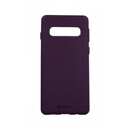 Zadný kryt Mercury Style Lux na Samsung S10 fialový