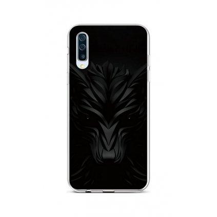 Zadný silikónový kryt na Samsung A50 Čierny vlk