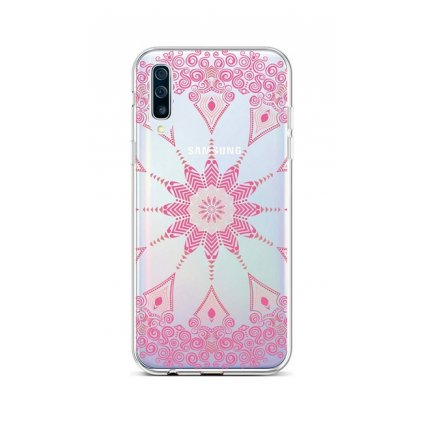 Zadný silikónový kryt na Samsung A50 Pink Mandala