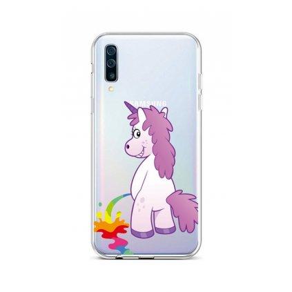Zadný silikónový kryt na Samsung A50 Rude Unicorn