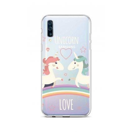 Zadný silikónový kryt na Samsung A50 Unicorn Love