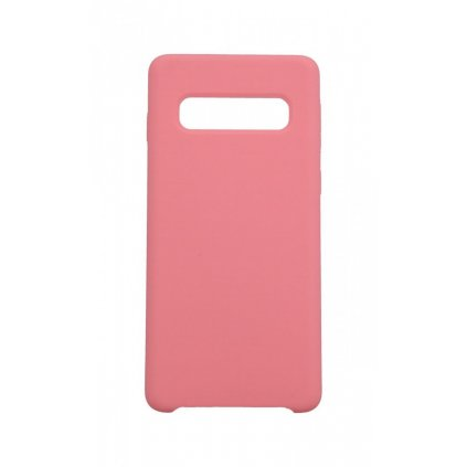Zadný pevný kryt Swissten Liquid na Samsung S10 ružový