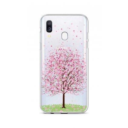 Zadný silikónový kryt na Samsung A40 Blossom Tree