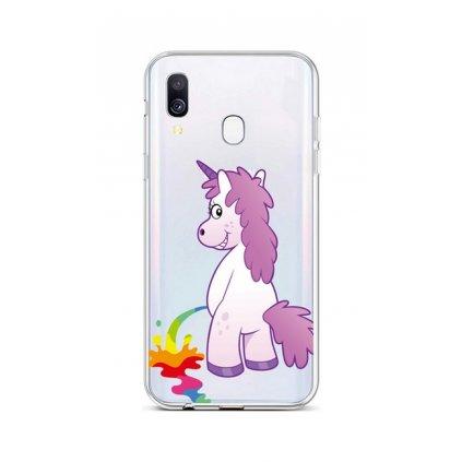 Zadný silikónový kryt na Samsung A40 Rude Unicorn