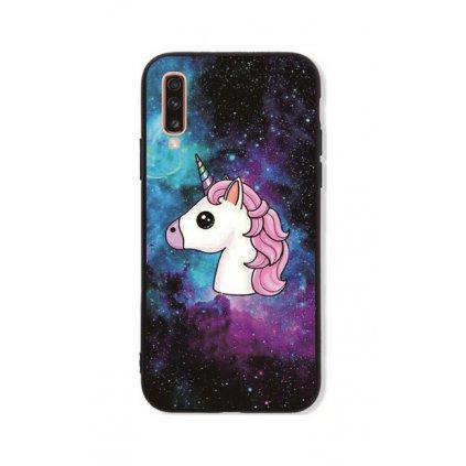 Zadný pevný kryt LUXURY na Samsung A70 Space Unicorn