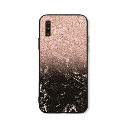Zadný pevný kryt LUXURY na Samsung A70 Sparkling Marble