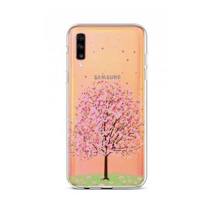 Zadný silikónový kryt na Samsung A70 Blossom Tree