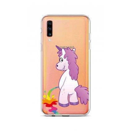 Zadný silikónový kryt na Samsung A70 Rude Unicorn