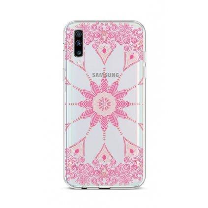 Zadný silikónový kryt na Samsung A70 Pink Mandala