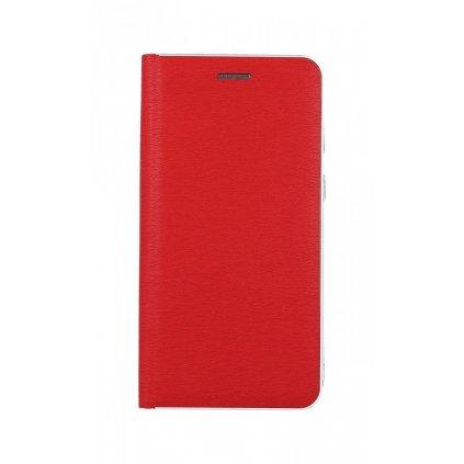 Flipové puzdro Luna Book na Samsung A40 červeno-strieborné
