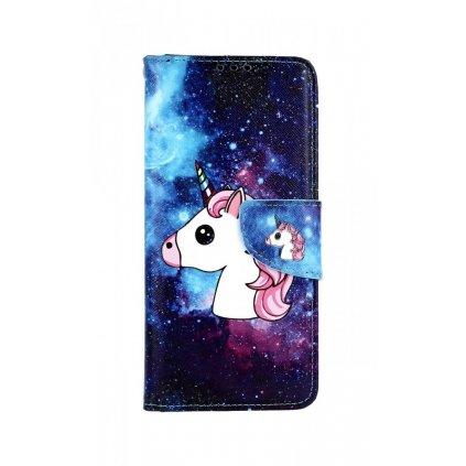 Flipové puzdro na Samsung J4 + Space Unicorn