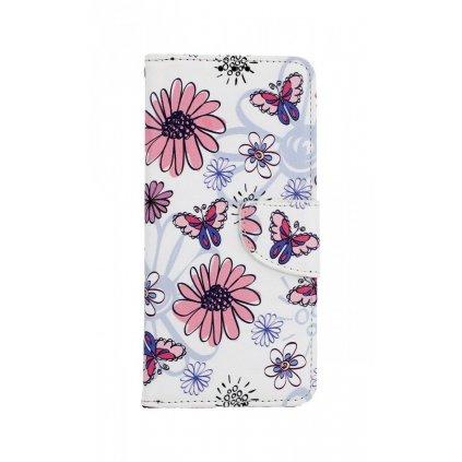 Flipové puzdro na Samsung J4 + Flowers