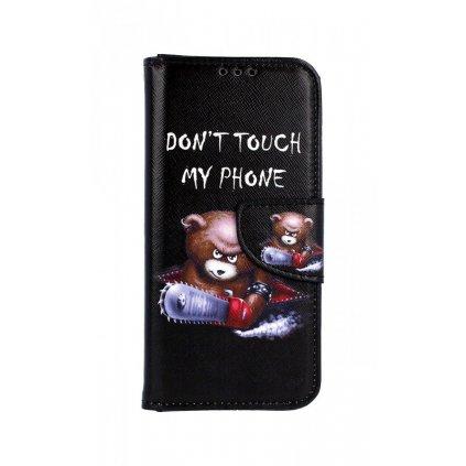 Flipové puzdro na Samsung A40 Dont Touch macko