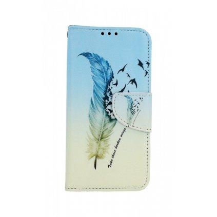 Flipové puzdro na Samsung A40 Pírko