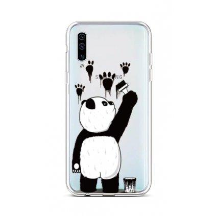 Zadný silikónový kryt na Samsung A50 Rebel Panda