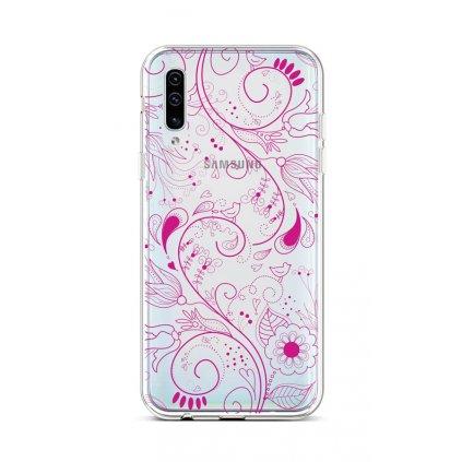 Zadný silikónový kryt na Samsung A50 Pink Ornament