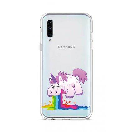 Zadný silikónový kryt na Samsung A50 Rainbow Splash