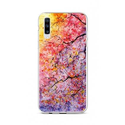 Zadný silikónový kryt na Samsung A70 Abstract Tree