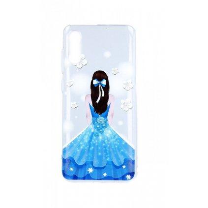 Zadný silikónový kryt na Samsung A70 Blue Princess