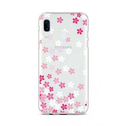 Zadný silikónový kryt na Samsung A20e Pink Blossom