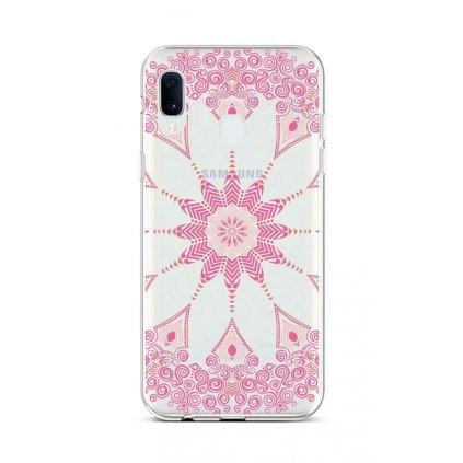 Zadný silikónový kryt na Samsung A20e Pink Mandala