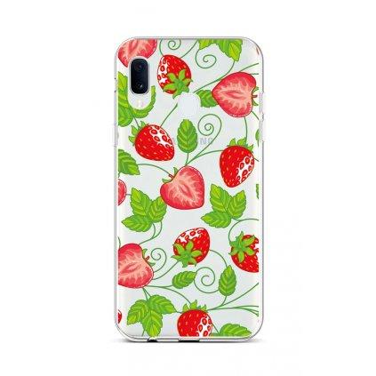 Zadný silikónový kryt na Samsung A20e Strawberries